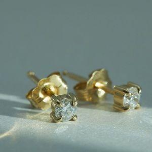 Catbird • AngelHair Diamond Stud Sparkler PAIR